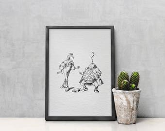 Wall Art - Art Print - Home Decor - Nursery Decor - Vintage Illustration - You Are Old, Father William