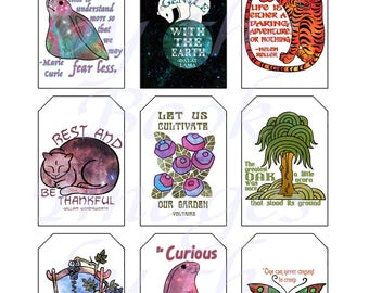 Inspirational Quotes and Mottos, GIFT TAGS (2 x 3 inches)