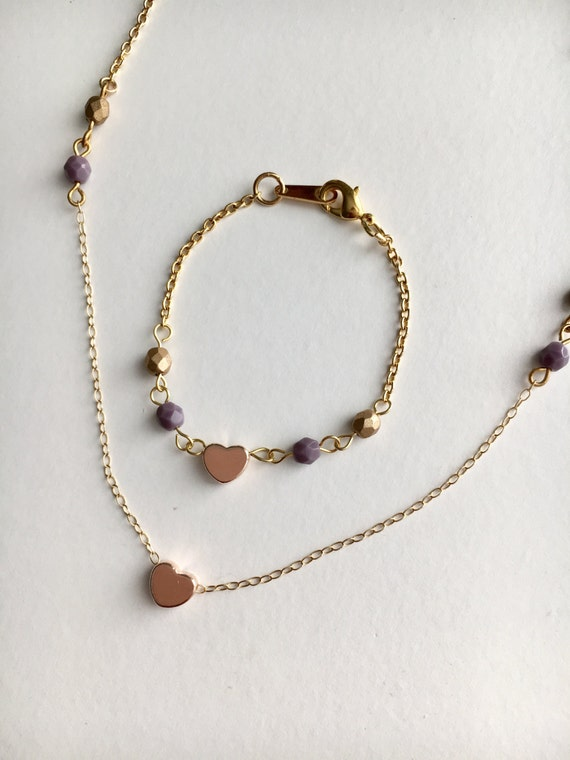 toddler necklace and bracelet set toddler jewelry set baby