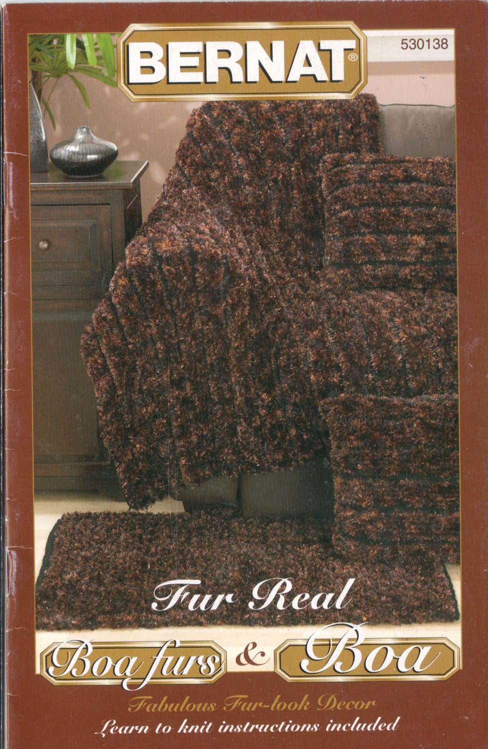 Bernat Knitting Pattern Booklet 530138 Boa And By
