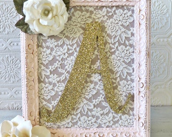 Wall Letters For Nursery Letter A Shabby Chic Nursery Decor Pink and Gold Decorative Letters Baby Girl Nursery Hanging Wall Letters
