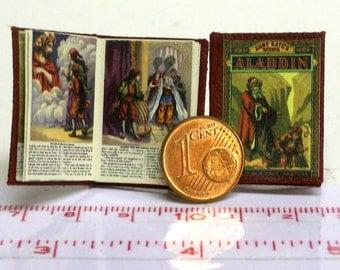 1218# Aladin - Children's Book - Miniature book - Doll house miniature in scale 1/12