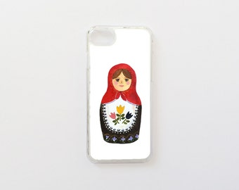 iPhone 7 Case - Russian Doll iPhone Case - Collaboration with Daniela Dahf - Hard Plastic or Rubber