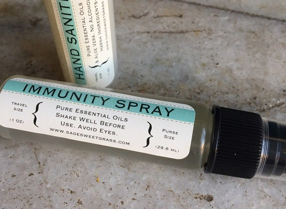 IMMUNITY TRAVEL SPRAY {All Natural Room, Bedding, Surfaces}{Public Bathrooms, Home, Offices, Playrooms, Classrooms, Cars, Toys}