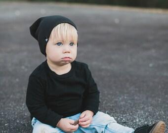 Black Baby Hat Infant Beanie Baby Boy Hat Black Beanie Slouchy Hat Beanie Mens Beanie Unisex Knit Hat Newborn Hat Urban Boy Hipster Baby Hat