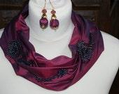 silk fabric necklace
