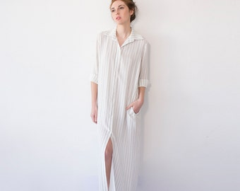 White Striped Dress, Long Kimono Dress, Maxi Kimono, Casual Wedding Dress, Minimalist Dress, Casual Beach Dress, White Kaftan Dress, Boho