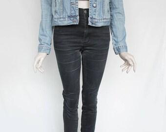 80s Vintage Blue Sturdy Jean Denim Jacket for Men or Women