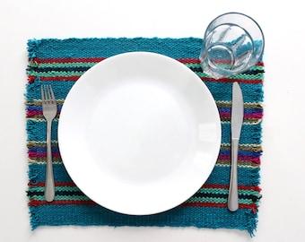Set of 6 woven dinnerware set / Placemats
