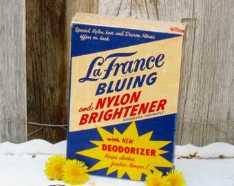 Laundry Room Decor, Vintage Laundry Detergent Box, La France Vintage Laundry Soap