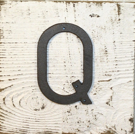 wrought iron letter q q 5 inch cast iron metal letter q with drill holes for 879