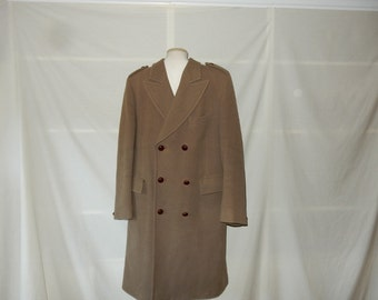 Sz 40 42 Made England Land's End Wool Chesterfield Coat - Trench Coat - Double  Breasted Overcoat - Men's Size M Medium - UK Britain British