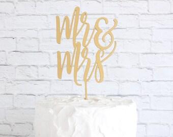 Wedding Cake Topper, Cake Topper for Wedding, Mr and Mrs Cake Topper, Rustic Cake Topper, Cake Topper