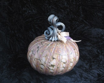 Big Granite Industrial Hand Blown Glass Pumpkin I132