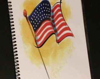 PASSWORD Book Internet Journal Website Organizer Personalized Gift Flag