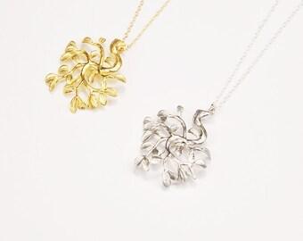 Tree of life necklace | Bohemian necklace, Boho necklace, Tree necklace, Long silver necklace, Bodhi tree pendant necklace