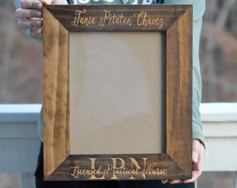 Personalized Graduation Frame, College Graduation Gift, Custom Engraved Picture Frame Personalized Gift For Graduates And Alumni Wood Frame