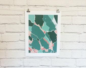 Napa Valley Map Print