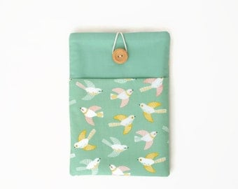 iPad Mini case, iPad Air case, iPad case, iPad Mini 4 case, iPad Air 2 case, iPad Pro cover for 9.7 and 12.9 - Yellow and green birds