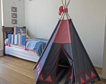 Awesome TeePee handmade SEWING PATTERN Instant Download wonderful outside or inside kids tent, tipi, tepee or wigwam.
