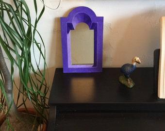Handcrafted decorative trompe l'oeill mirror