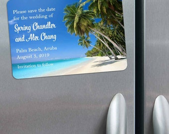Palm Beach - Magnet - Save the Date + Envelopes