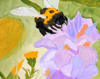 Humble Bumble, Bumble bee On purple flower