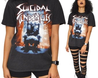 Vintage 90s Suicidal Tendencies You Can't Bring Me Down Touring T Shirt Sz M