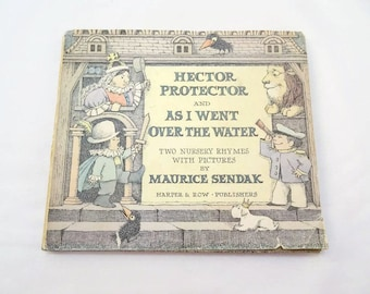 Vintage Hector Protector and As I Went Over the Water Childrens Hardcover Book 1965 by Maurice Sendak