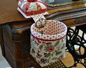 Sew Sassy Thread Catcher with Detachable Pincushion, Scrap Bag and Scissor Holder, Filled w/Walnut Shells from Curry Bungalow-French General