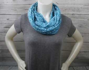 Teal Burnout Knit Infinity Scarf