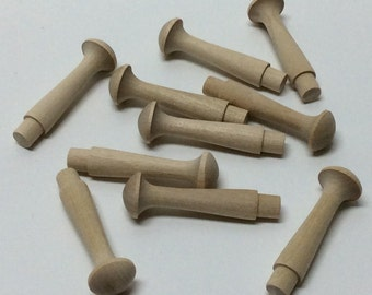 """2 7/16"""" Wood Shaker Pegs - Set of 10 or 20 - Unfinished Wood - 3/8"""" Tenon - Wooden Shaker Peg - DIY Shaker Peg Rack"""