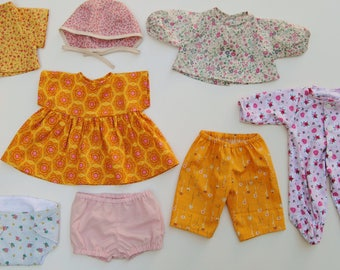 Waldorf Doll Clothing Patterns, Set of 9 PDF Doll Clothes Patterns for the Wild Marigold Waldorf Baby Doll