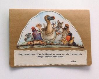 Alice in Wonderland Greeting Card.