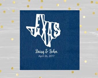 Texas Wedding, Texas Wedding Favor, I Do BBQ, Custom Party Napkins, Hostess Gift, Bridal Party Gift, Birthday Napkin, Destination Wedding