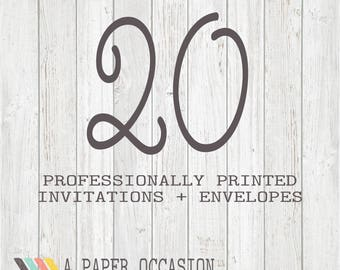 20 Professionally Printed Invitations