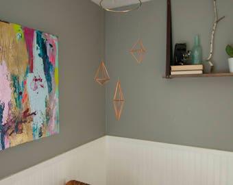 Copper geometric mobile
