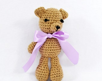 Crochet Teddy Bear, Newborn Photography Prop