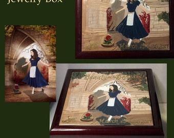 Custom Painted Jewelry Box Painted Wooden Box Hand Painted Keepsake Box