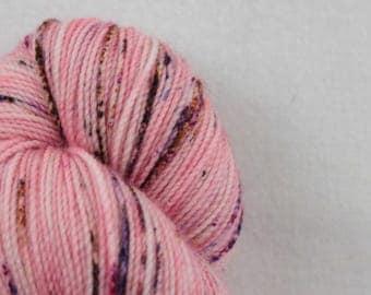 Hand-dyed yarn - sock yarn - superwash - merino - dyed-to-order - speckles - FRAISE