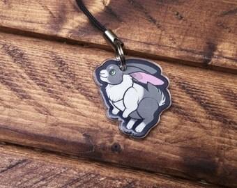 """1"""" Animal Charms - Rabbit"""