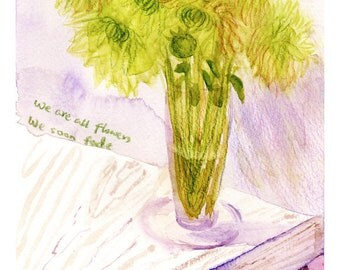 Fading Dahlia, Fine Art Print