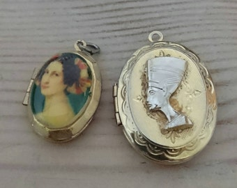 Two vintage lockets