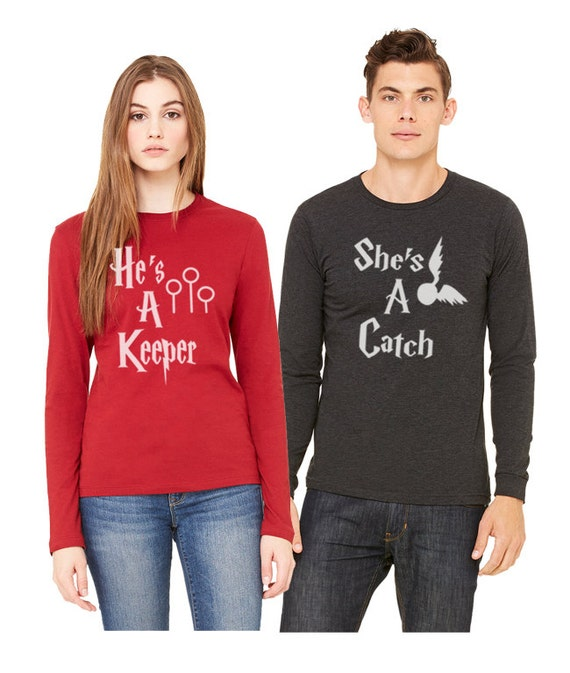 Keeperfinder Com Clothes: Items Similar To She's A Catch He's A Keeper Shirt Couples