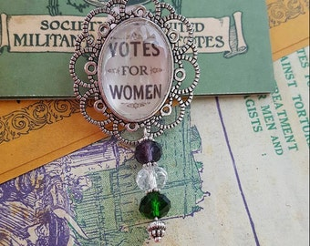 Suffragette Votes for Women Brooch Pin
