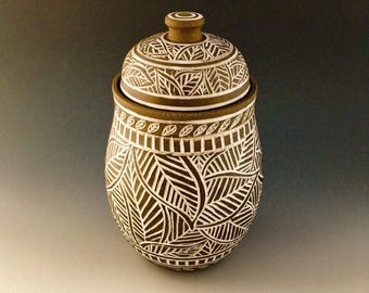 Large Lidded Jar/Canister/Urn for Cookies, Sugar, Flour, Treasures Wheel-thrown by NorthWind Pottery