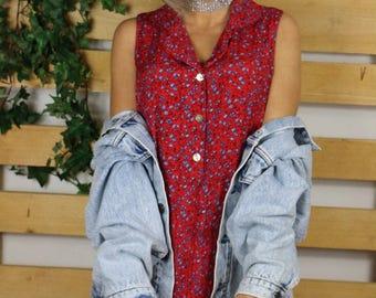 Patterned 90'S Vintage DRESS - Retro Viscose 90s dress