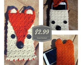 Crochet **PATTERN** Fox Phone Tablet Cozy Case