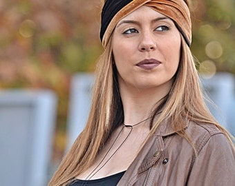 Velvet Turban, Brown Turbans, Running Turban, Yoga Turbands, Boho Turbans, Workout Headband, Womens Turban, Womens Turbans, Twist Headbands