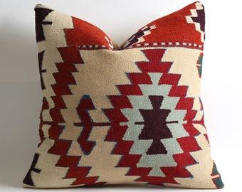 20x20 handwoven kilim pillow cover